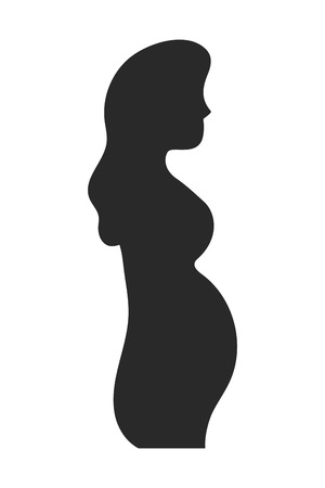 Ilustración de Pregnant woman design, Concept of belly pregnancy maternity female mother and expecting Vector illustration - Imagen libre de derechos