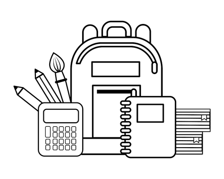 Ilustración de School icon set, Concept of supplies objects education study and lesson Vector illustration - Imagen libre de derechos