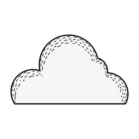 Illustration pour cute cloud drawing icon vector illustration design - image libre de droit