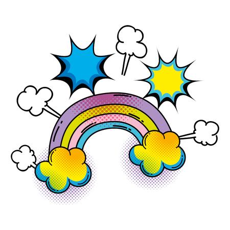 Illustration pour rainbow pop art style vector illustration design - image libre de droit