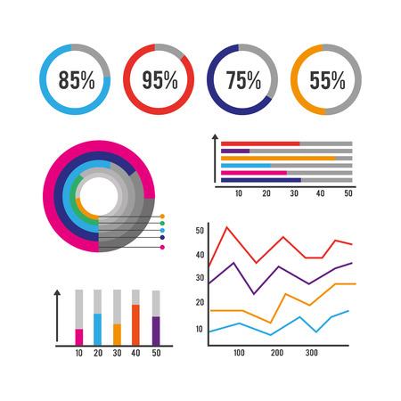 Ilustración de infographic business finance data information vector illustration - Imagen libre de derechos