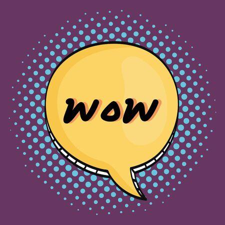 Illustration pour speech bubble with wow message - image libre de droit