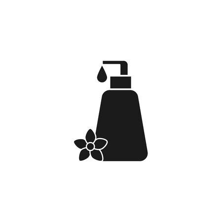 Illustration pour spa bottle product silhouette style icon - image libre de droit