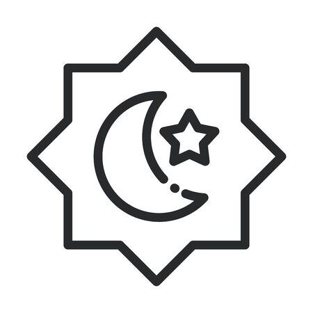 arabesque decoration ramadan arabic islamic celebration line style icon