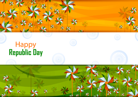 Illustration for 26th January, Happy Republic Day of India - Royalty Free Image