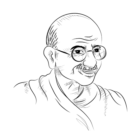 Illustration pour illustration of India background with Nation Hero and Freedom Fighter Mahatma Gandhi for Independence Day or Gandhi Jayanti - image libre de droit