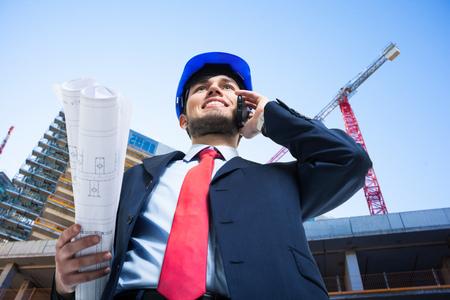 Foto de Portrait of an architect at work - Imagen libre de derechos