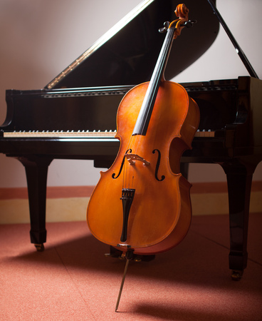 Photo for Classical music concept: piano and cello - Royalty Free Image