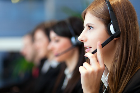 Photo pour Call center operators - image libre de droit