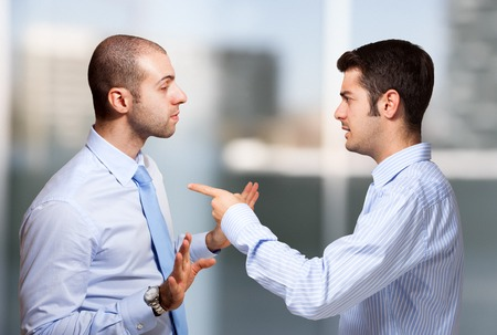 Photo for Businessman scolding a colleague - Royalty Free Image