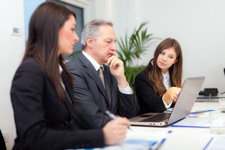 Photo pour People at work during a business meeting - image libre de droit