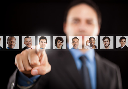Photo for Employer choosing the right people - Royalty Free Image