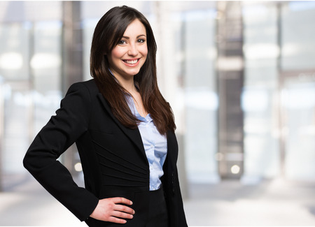 Foto per Portrait of a beautiful smiling businesswoman - Immagine Royalty Free