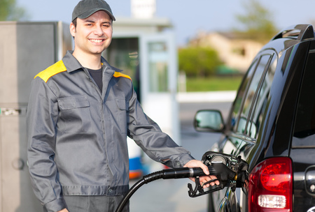 Photo for Man working at the gas station - Royalty Free Image