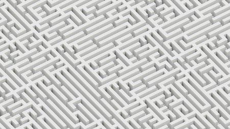 Foto de Isometric infinite white granite maze landscape. This image is a 3d render. - Imagen libre de derechos