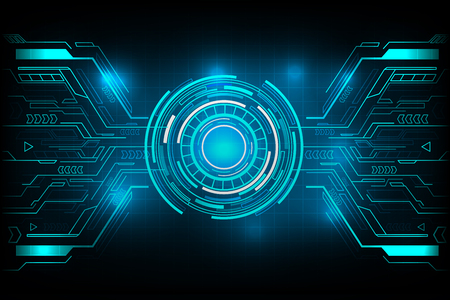 Illustration pour Circle futuristic technology vector design. - image libre de droit