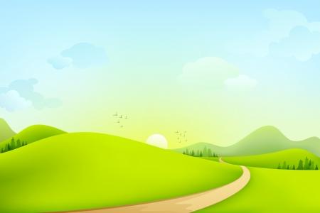 Photo pour Green Landscape - image libre de droit