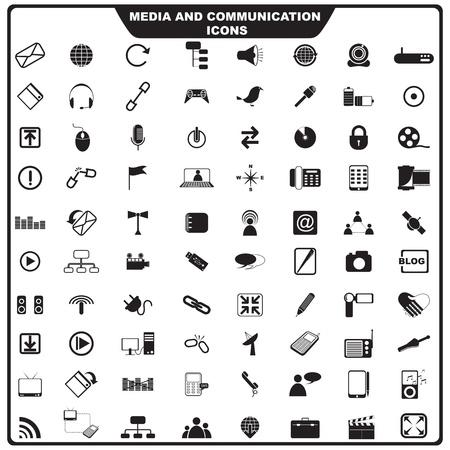 Foto de  illustration of set of media icon - Imagen libre de derechos