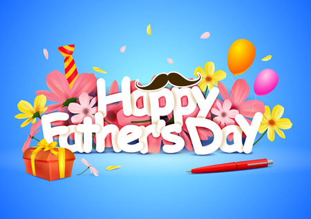 Illustration pour Happy Fathers Day wallpaper background - image libre de droit