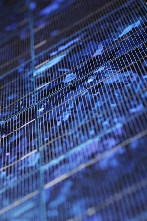 Blue Solar panel background texture
