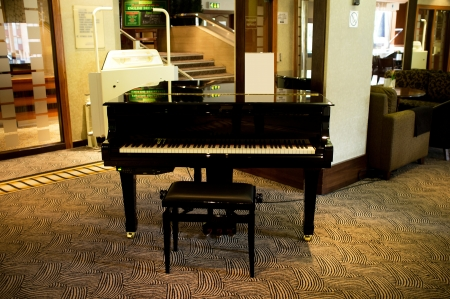 Piano in the middle of massive lounge. Rich lifestyle