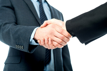 Photo for Business handshake after striking deal - Royalty Free Image