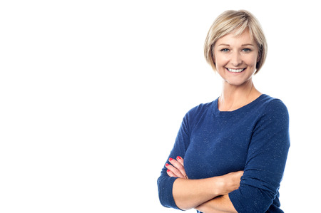Photo for Attractive middle aged woman with folded arms - Royalty Free Image
