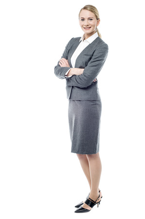 Photo pour Full length image of confident young business woman - image libre de droit