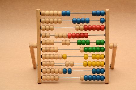 Photo for Traditional Vintage style Abacus On Wood Background - Royalty Free Image