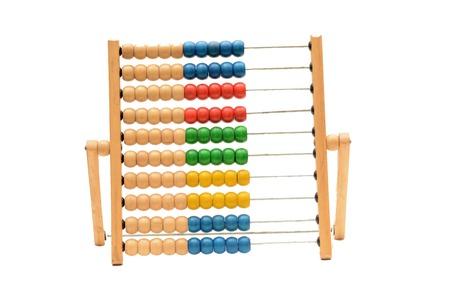 Foto de Traditional Vintage style Abacus On white background - Imagen libre de derechos