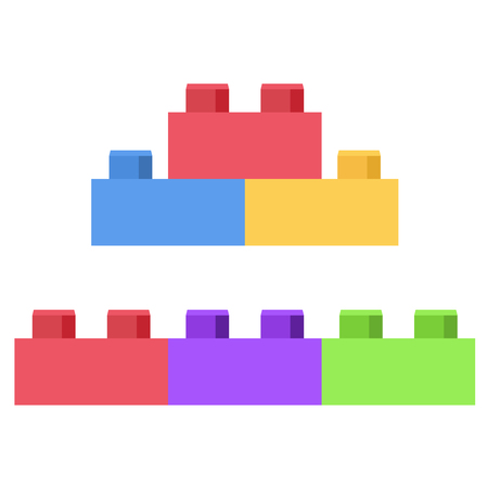 Illustration for Plastic building block - toy construction set - Royalty Free Image