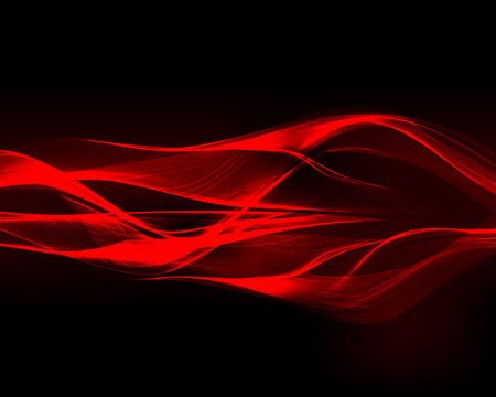Illustration pour Abstract red waves on the dark background. Vector illustration. - image libre de droit