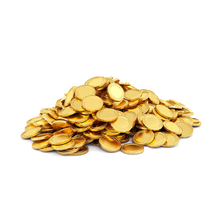 Photo pour Gold coins isolated on a white background  - image libre de droit