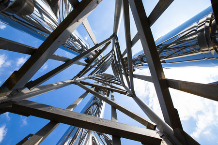 Photo for Steel construction view from below. - Royalty Free Image