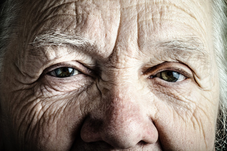 Photo for Portrait of elderly woman. Closeup view. Toned. - Royalty Free Image