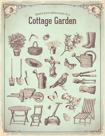 Illustration pour cottage garden - image libre de droit