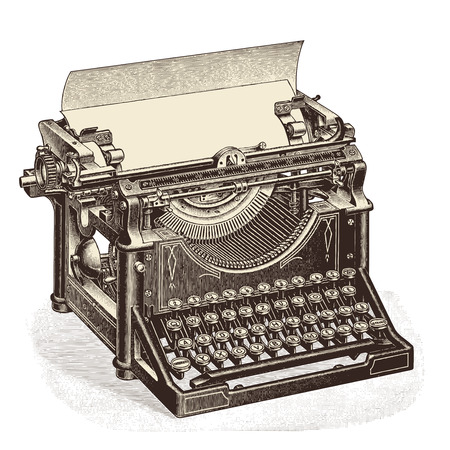 Photo pour vintage typewriter with blank sheet of paper - image libre de droit