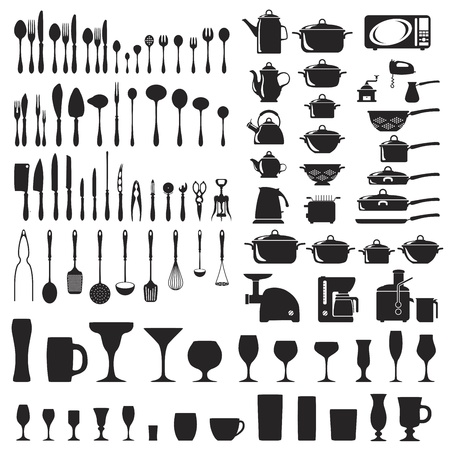 Set of cutlery icons