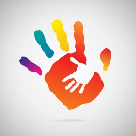 Illustration for Hand Print icon - Royalty Free Image