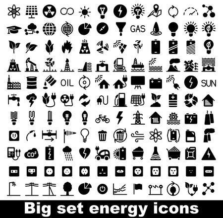 Ilustración de Energy and resource icon set. Vector illustration - Imagen libre de derechos