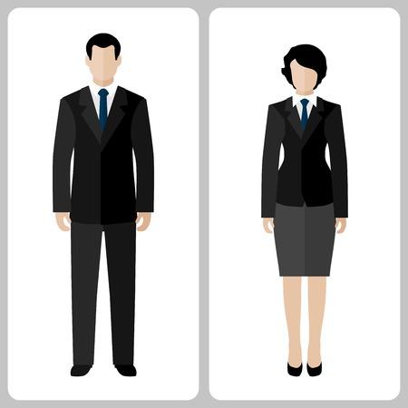 Illustration pour Woman and man vector colorful on white background - image libre de droit