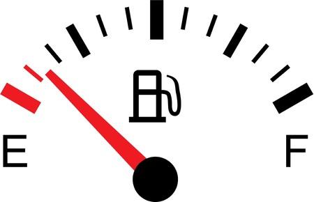 Illustration pour A White gas tank illustration on white - Empty - image libre de droit