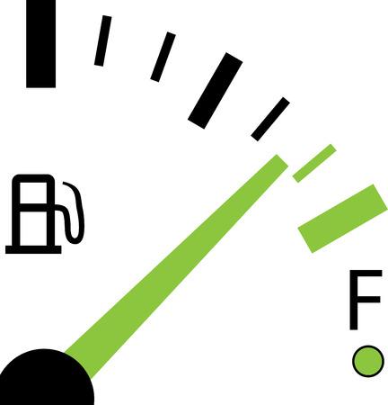 Illustration pour An Illustration of a Fuel Gauge on White Background - image libre de droit
