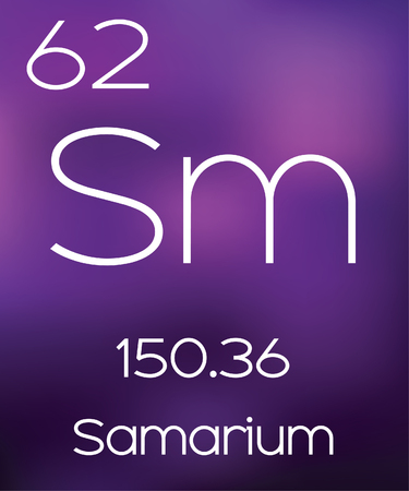 Foto de Purple Background with the Element Samarium - Imagen libre de derechos