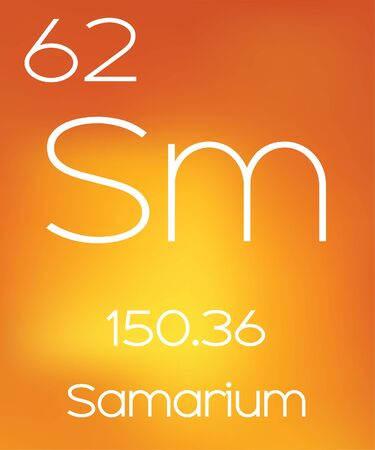 Foto de An Informative Illustration of the Periodic Element - Samarium - Imagen libre de derechos