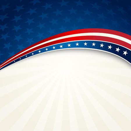 Illustration pour Vector illustration Independence Day patriotic background - image libre de droit