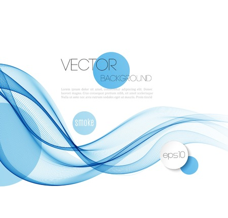 Foto per Vector Abstract smoky waves  background. Template brochure design - Immagine Royalty Free