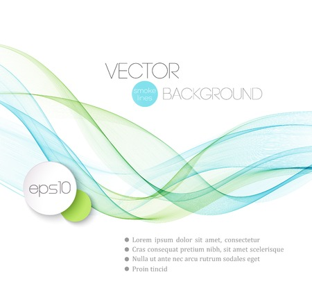Illustration for Vector Abstract smoky waves  background. Template brochure design - Royalty Free Image
