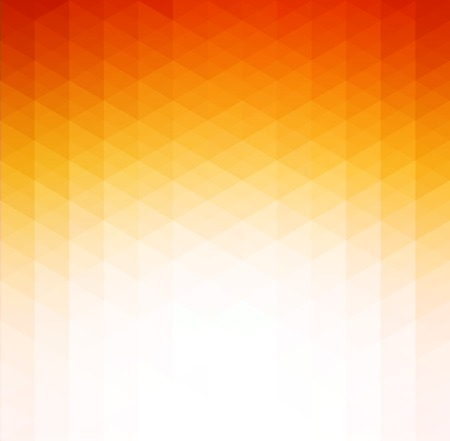 Illustration pour Vector Abstract orange geometric technology background  with triangle - image libre de droit