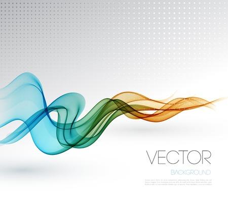 Foto de Vector Abstract smoky waves  background. Template brochure design - Imagen libre de derechos